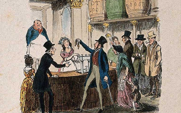 Un gin palace pieno di clienti