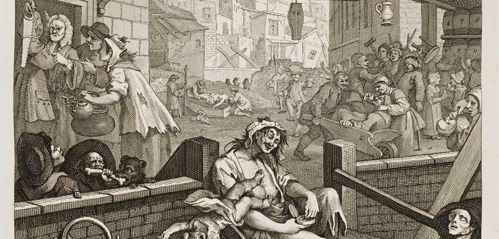 """""""Gin Lane"""" – William Hogarth (1750-1751)"""