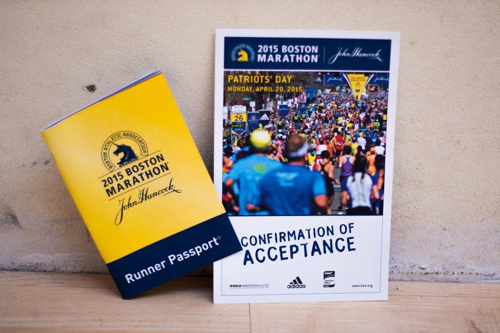 Foglio di accettazione per la maratona di Boston