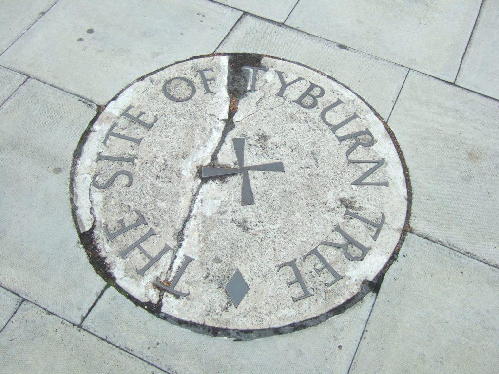 Targa commemorativa per Tyburn Tree