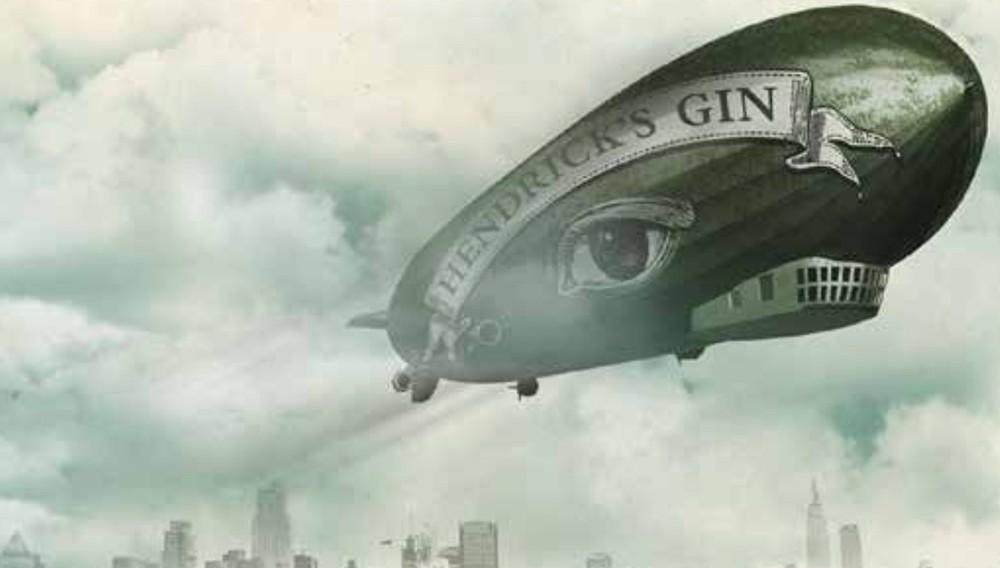 """Immagine promo del """"Cetriolo Volante"""" della Hendrick's Air"""