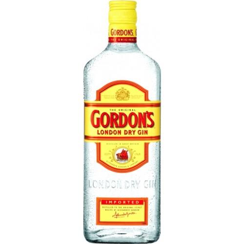 La bottiglia di Gordon's prima del redesign del 2002