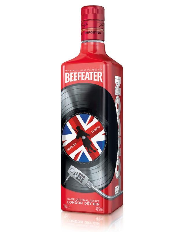 London Sounds di Beefeater Gin - la nuova bottiglia che celebra la musica