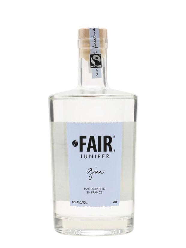La bottiglia del Fair Juniper Gin