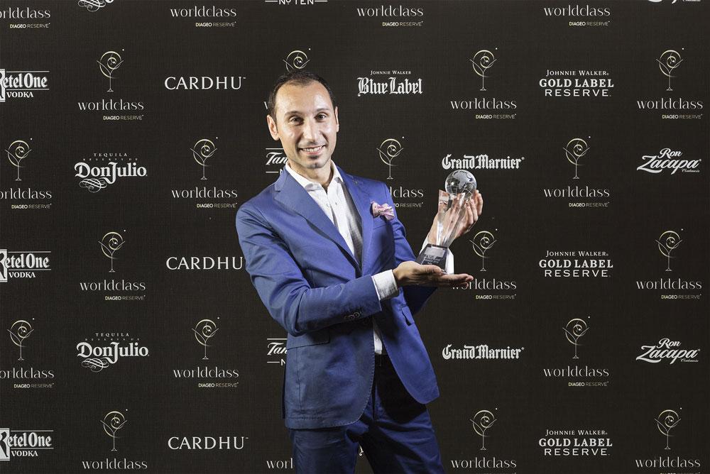 Francesco Cione, vincitore del Diageo Reserve World Class