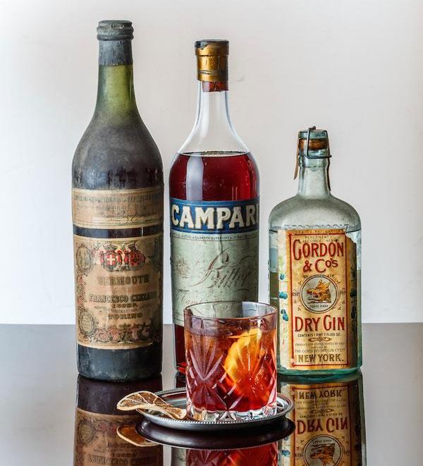 Gli ingredienti del Negroni più vecchio del mondo