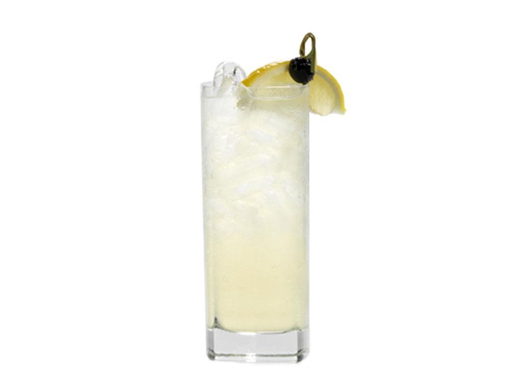 Un Collins nella suo caratteristico bicchiere