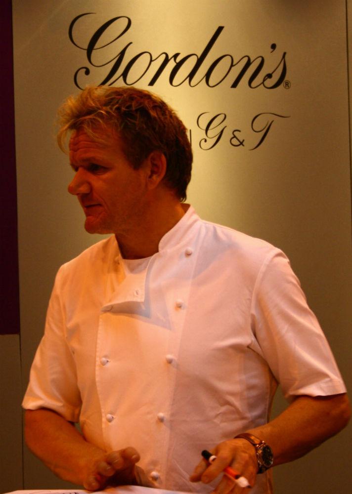Gordon Ramsay alla presentazione del suo Gin Tonic per Gordon's Gin