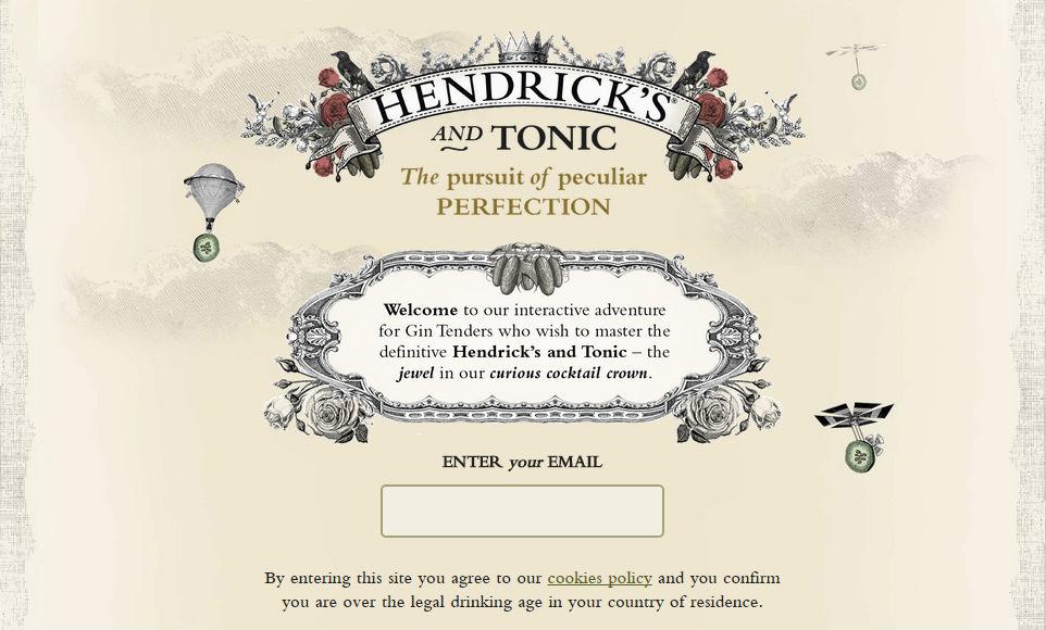 Il sito Hendrick's & Tonic Perfection