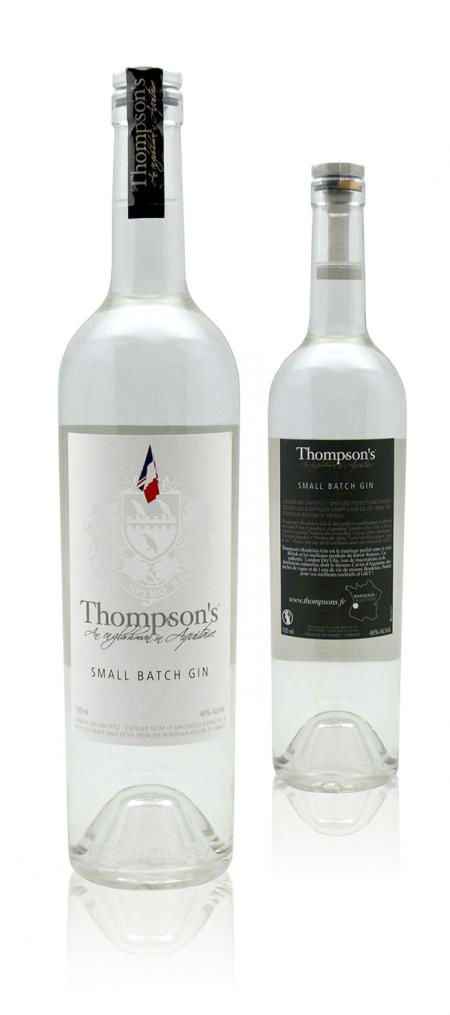 La bottiglia di Thompsons Bordelais Grape Gin, per palati raffinati
