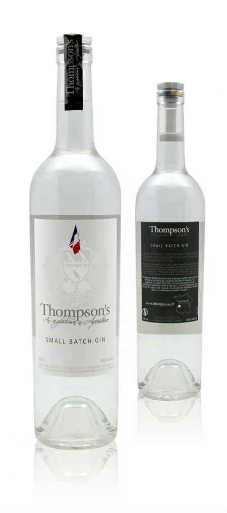 La bottiglia di Thompsons Bordelais Grape Gin, per palati raffinati