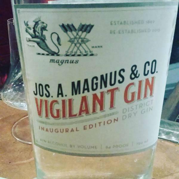 Un'anteprima della bottiglia di Vigilant Gin