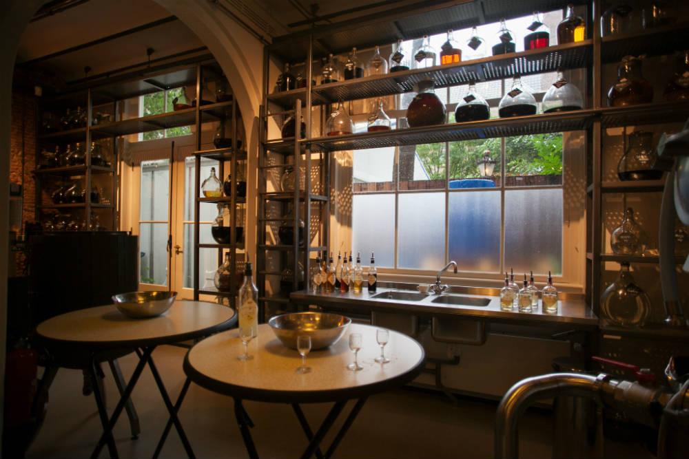 La tasting room