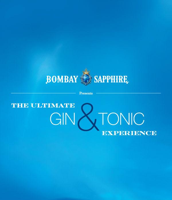 Un'immagine promozionale del tour Bombay Sapphire Ultimate Gin & Tonic Experience