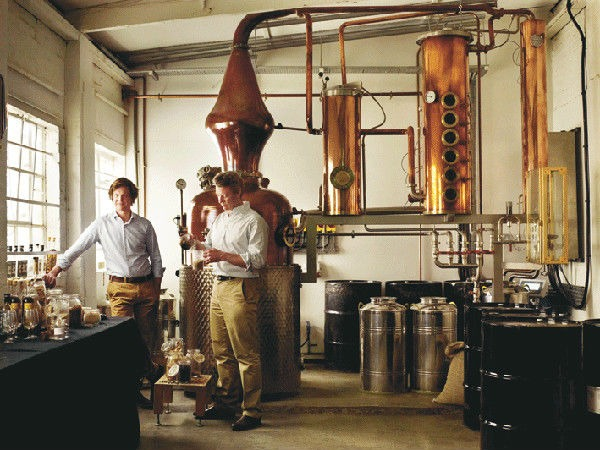Interno della distilleria Sipsmith