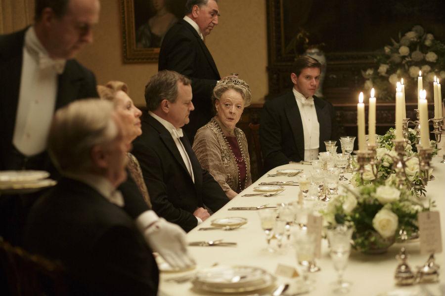 Una scena da Downton Abbey, la produzione incentrata su una famiglia aristocratica inglese