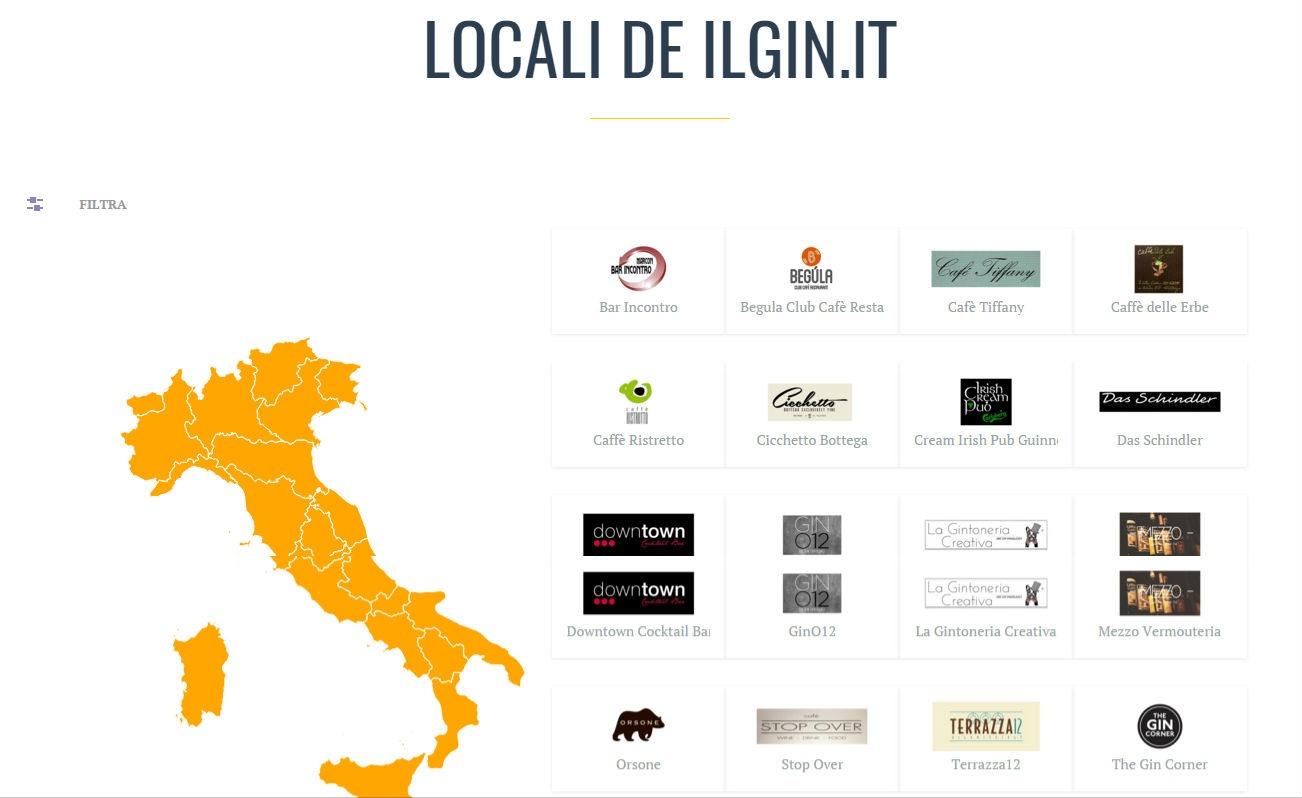 La nuova sezione Locali, che si può navigare anche attraverso la mappa delle regioni