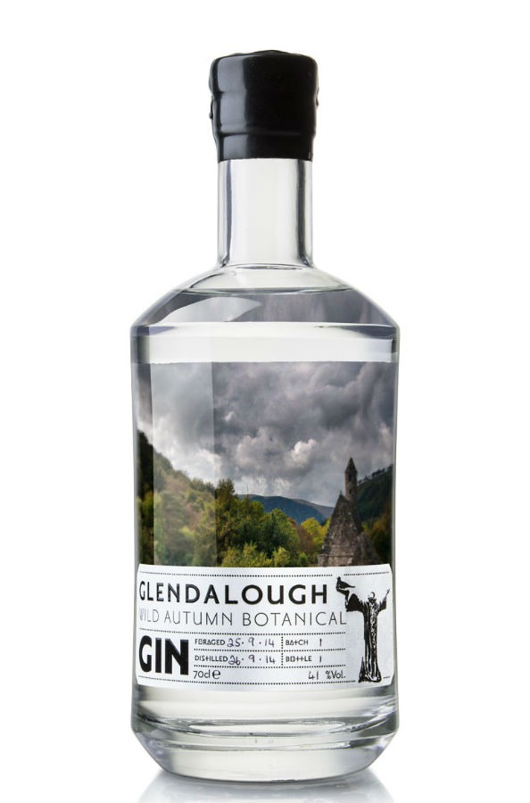 La bottiglia del gin autunnale di Glendalough, The Wild Autumn Botanical