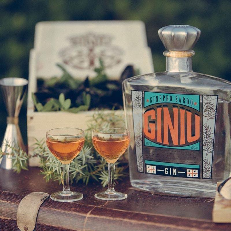 La bottiglia di Giniu in un'immagine promozionale