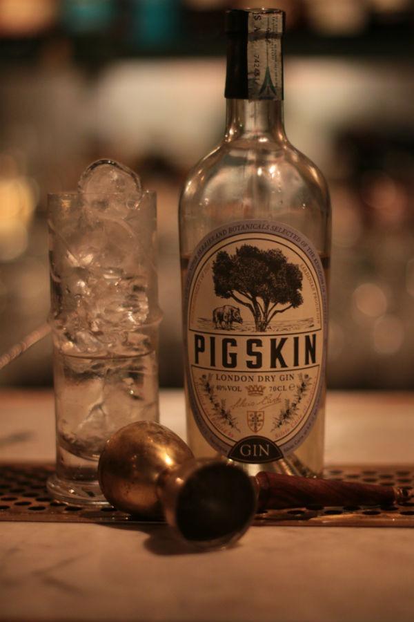 La bottiglia di Pig Skin Gin