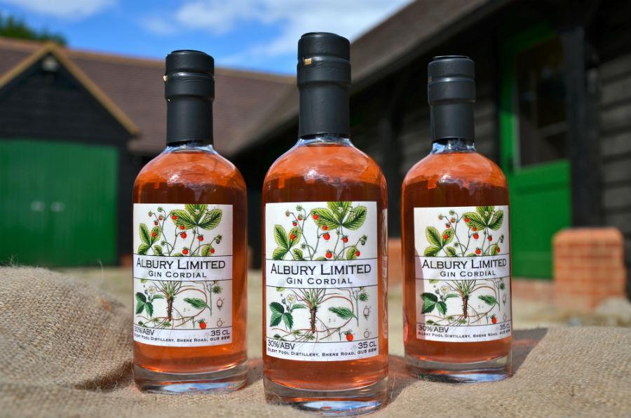 Il cordiale di gin e fragola prodotto da Silent Pool