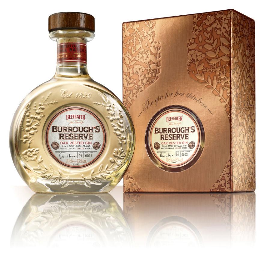 La bottiglia della seconda edizione di Beefeater Burrough's Reserve