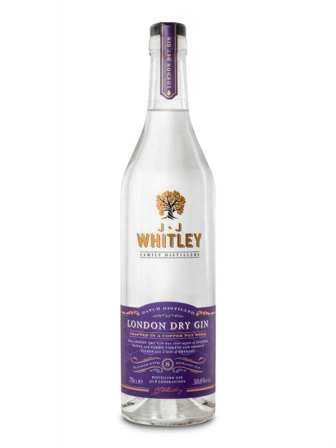 La bottiglia di JJ Whitley Gin