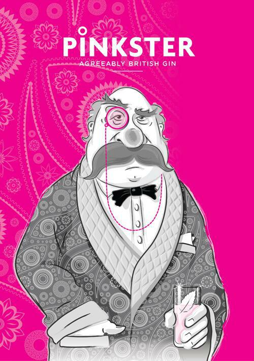 Il colonello Pinkster, mascotte del Pinkster Gin