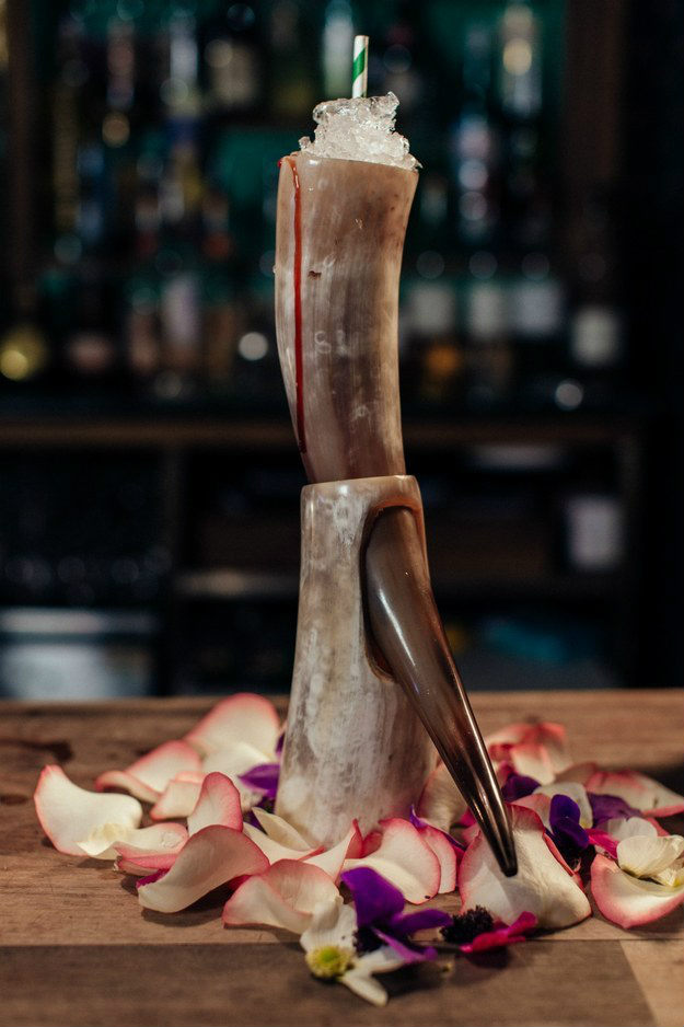 Il cocktail Valar Morghulis realizzato da Portobello Road Gin