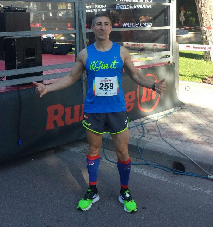 Pino prima della mezza maratona a Milano Marittima