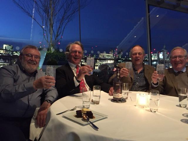 Da sinistra: Tom Nichol, Charles Maxwell, Jonathan Clark, Desmond Payne