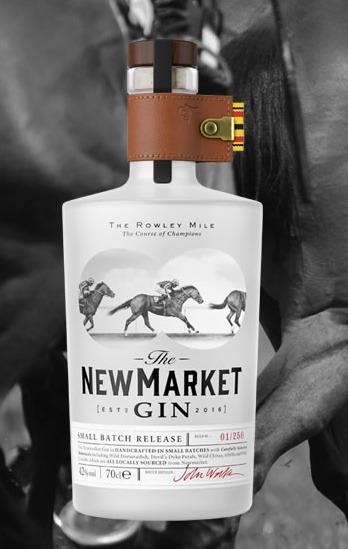 Newmarket Gin in un'immagine promozionale