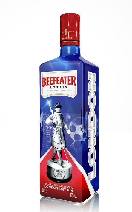 La bottiglia di Beefeater ispirata ai film londinesi