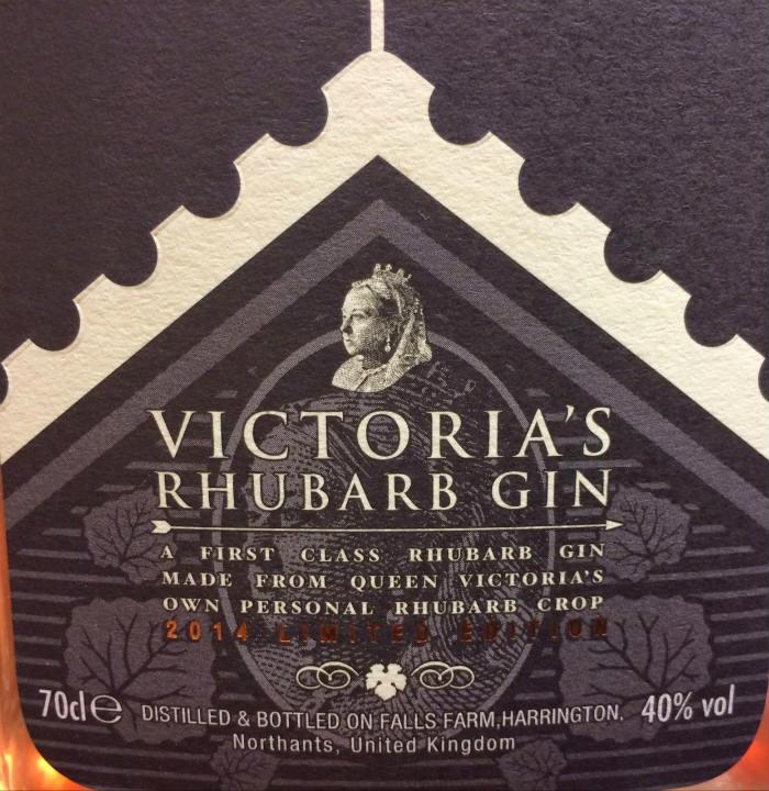 Etichetta di Warner Edwards Victoria's Rhubarb Gin