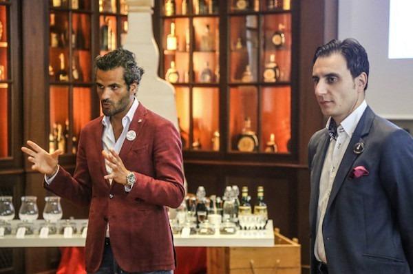 Matteo Bonoli e Giuseppe Gallo durante la masterclass di Amaro Montenegro, bologna 27 giugno 2016