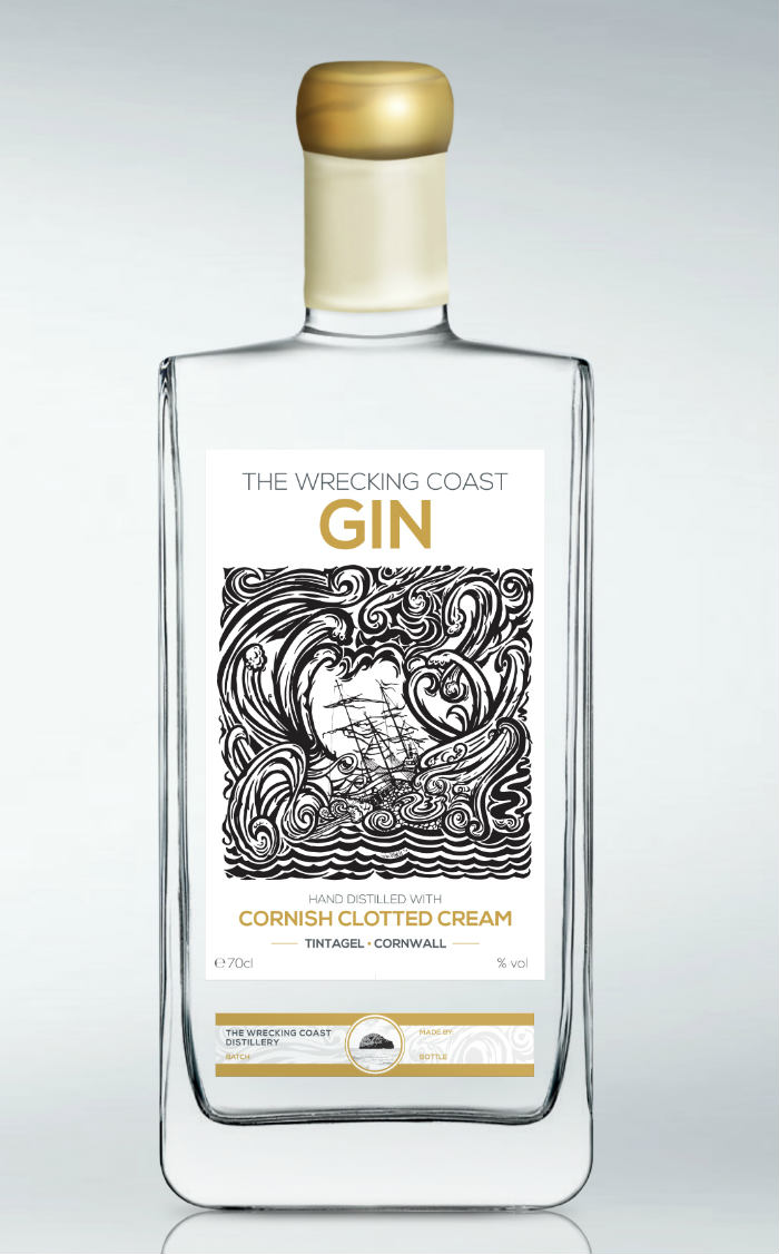 The Wrecking Coast Gin with Cornish clotted cream