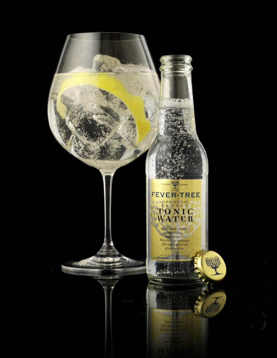 Fever Tree Premium Indian Tonic Water in un'immagine pubblicitaria