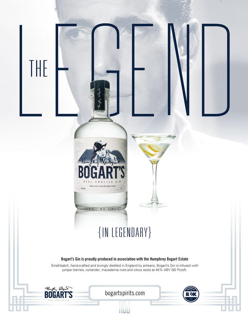 Immagine pubblicitaria di Bogart's Gin