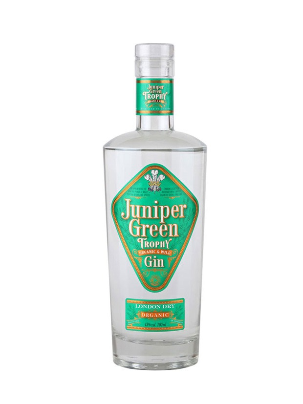 Juniper Green Trophy Gin Bottiglia
