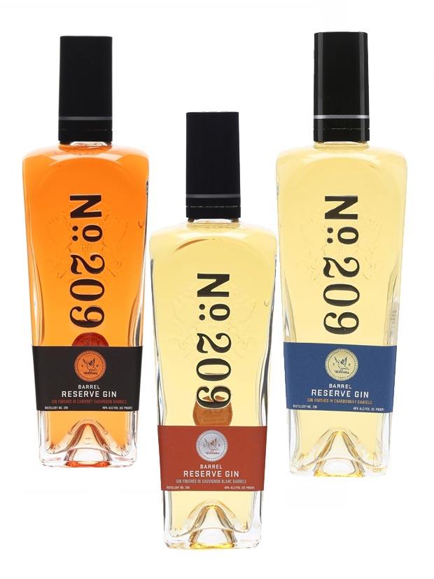 Number 209 Barrel Reserve Gin Bottiglia
