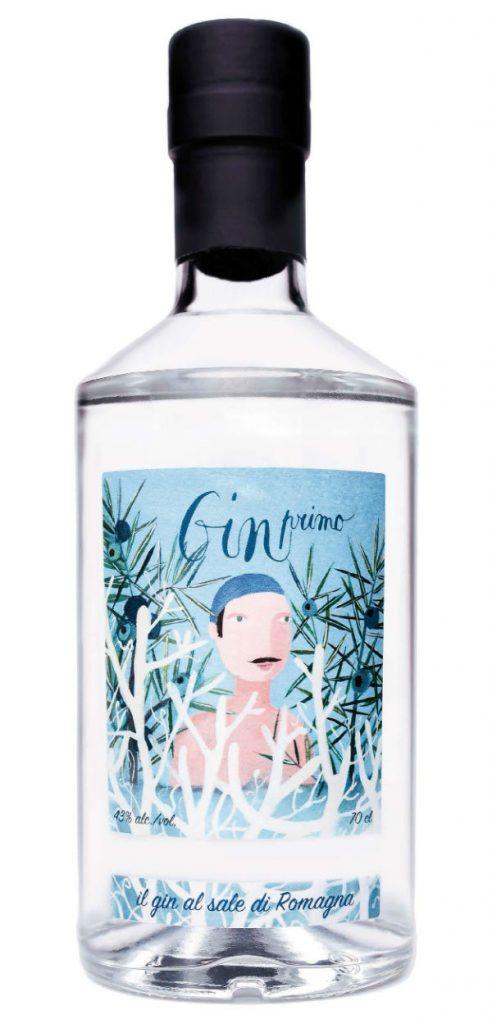 La bottiglia di Gin primo