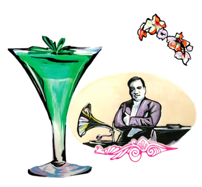 Caruso cocktail disegnato da Andy FluOn
