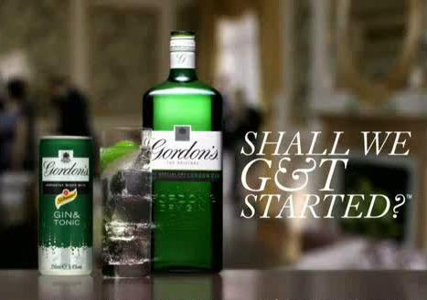 immagine della campagna promozionale di Gordon's Gin