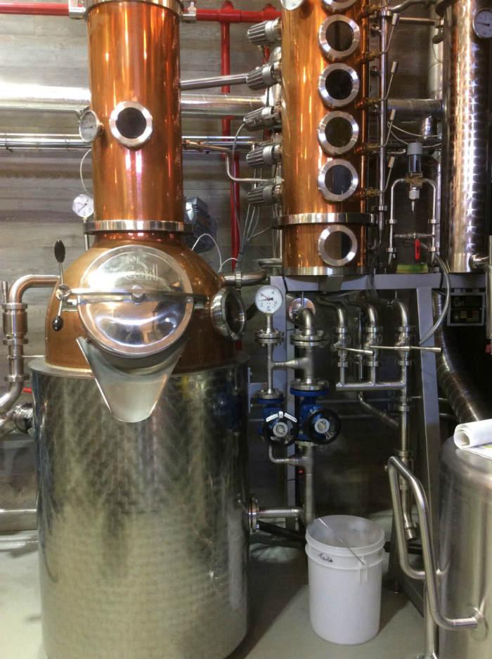 L'alambicco in rame più piccolo della Kyoto Distillery