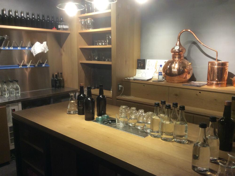Il laboratorio della Kyoto Distillery