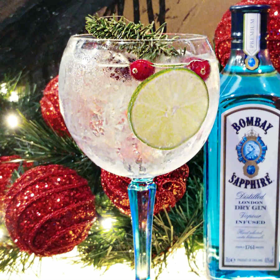 Bombay Sapphire's Christmas Gin Tonic