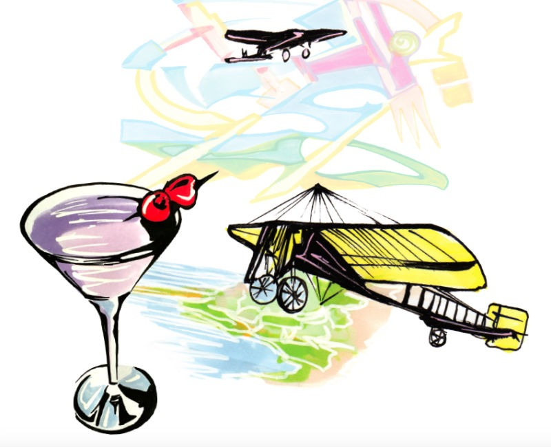 Aviation cocktail disegnato da Andy Fluon