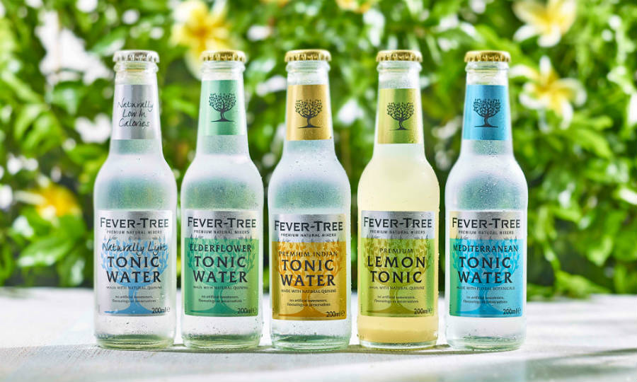 La gamma di acque toniche Fever Tree