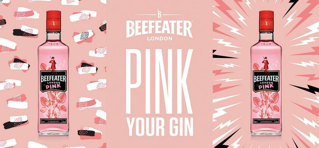 Beefeater Pink Gin profuma la metro di fragola