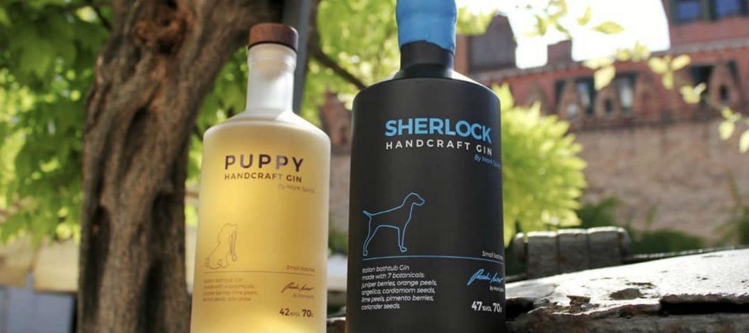 Puppy e Sherlock Handcraft Gin: un nuovo mondo di profumi e sapori